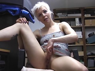 Sweet skirt Columbia moans loudly while fingering her tight cunt
