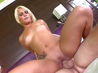 Small boobs hottie Mickenzie Moore moans to the fullest getting fucked