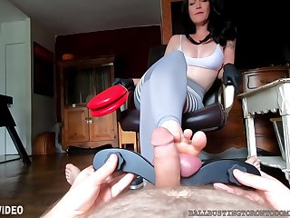 Bastienne Cross Your Balls Are My Footrest Humbler Ballbust
