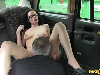 Curly Haired Babe Wants To Be A Porn Star, Cabbie Helps Parts